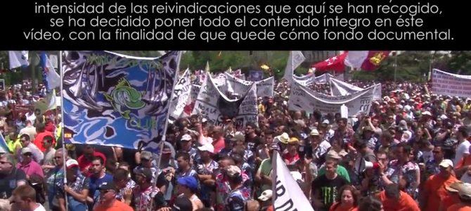 Vídeo Manifestación en Defensa de la Pesca, la Caza y el Mundo Rural