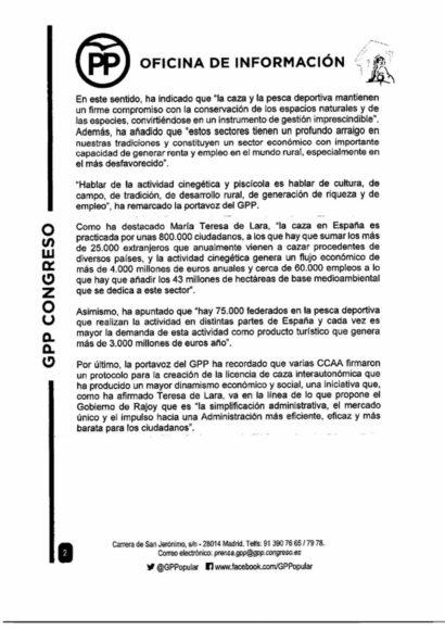 carta del PP y el PSOE