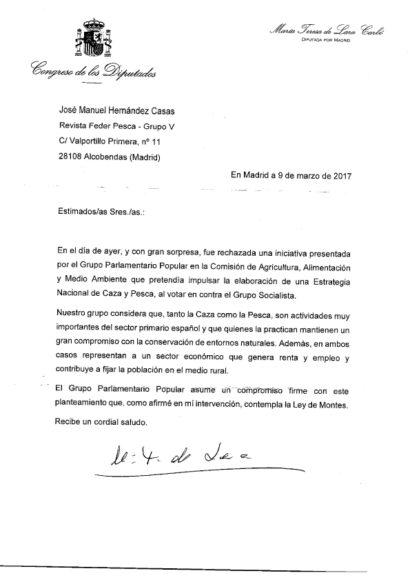 El PSOE rechaza una iniciativa del PP para la estrategia Nacional de Caza y Pesca